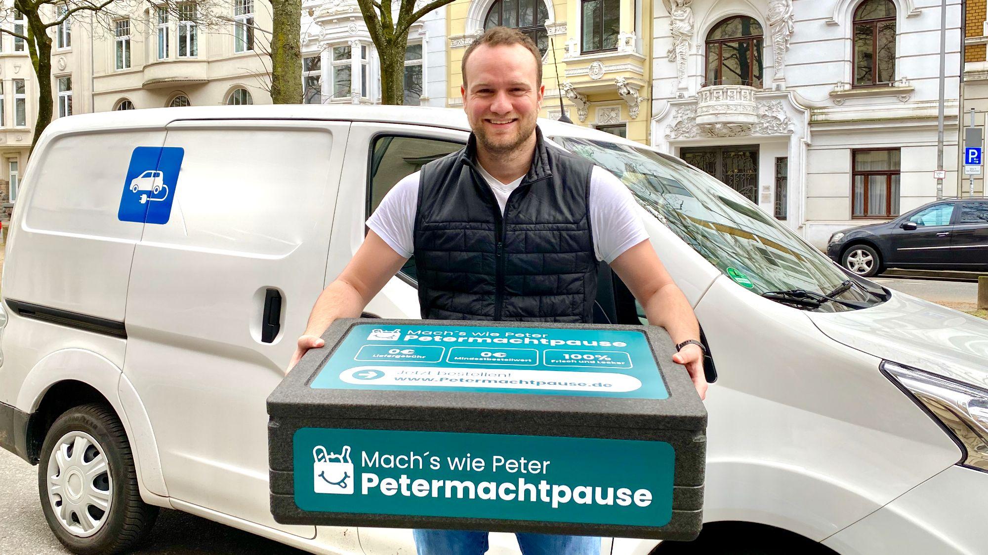 Peter bringt dir Deine Bestellung zur Mittagspause